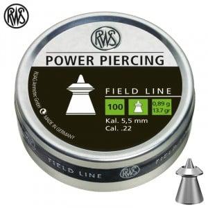 MUNITIONS RWS POWER PIERCING 5.50mm (.22) 100pcs