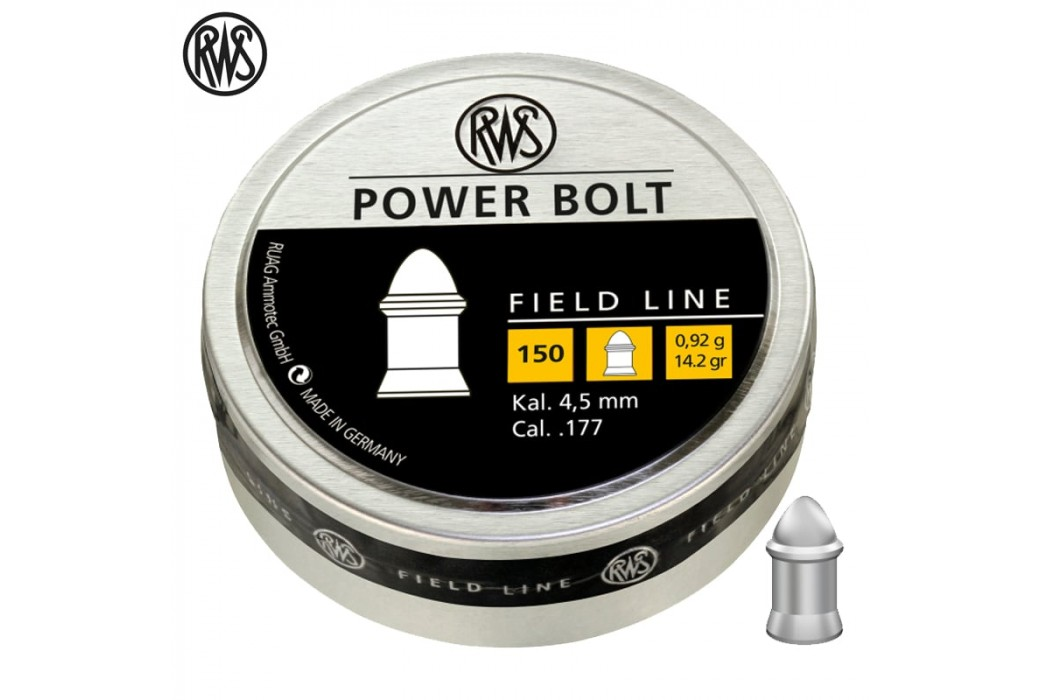 BALINES RWS POWER BOLT 4.50mm (.177) 150pcs