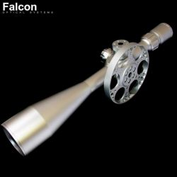 SCOPE FALCON T50LM SILVER 10-50X60 MIL-DOT