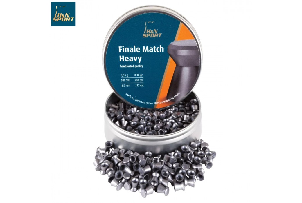 MUNITIONS H & N FINALE MATCH HEAVY 4.50mm (.177) 500PCS