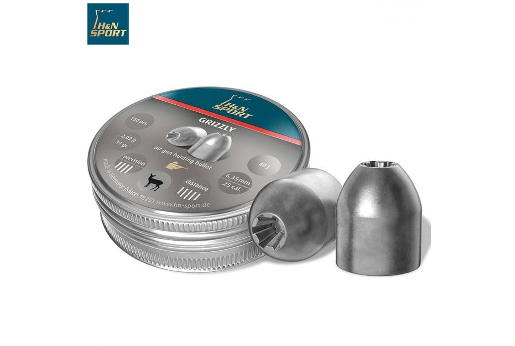 MUNITIONS H & N GRIZZLY 6.35mm (.25) 150PCS