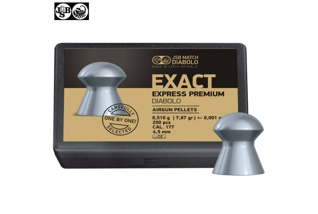 BALINES JSB EXACT EXPRESS PREMIUM DIABOLO 200pcs 4.52mm (.177)