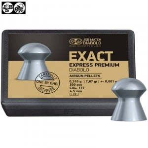 MUNITIONS JSB EXACT EXPRESS PREMIUM DIABOLO 200pcs 4.52mm (.177)