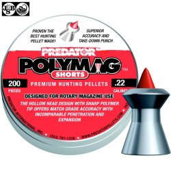 Air gun pellets JSB POLYMAG SHORTS 200pcs 5.50mm (.22)