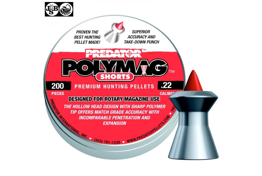BALINES JSB POLYMAG SHORTS 200pcs 5.50mm (.22)
