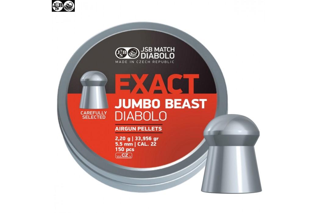 MUNITIONS JSB EXACT BEAST ORIGINAL 150pcs 5.52mm (.22)