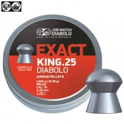 MUNITIONS JSB EXACT KING ORIGINAL 350pcs 6.35mm (.25)