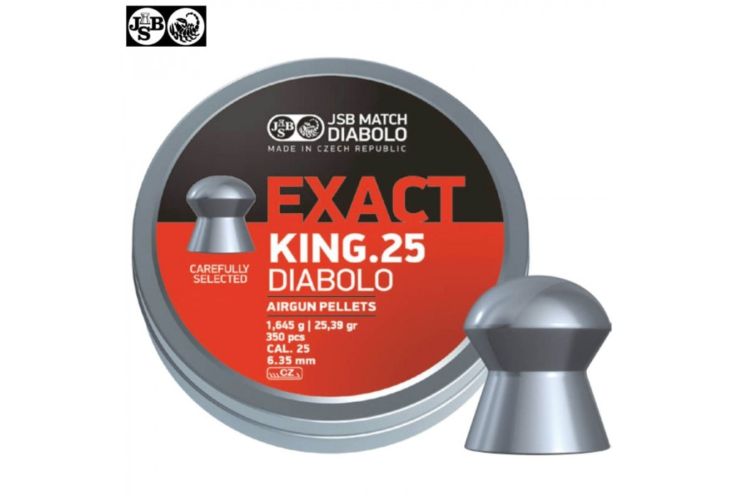 MUNITIONS JSB EXACT KING ORIGINAL 300pcs 6.35mm (.25)