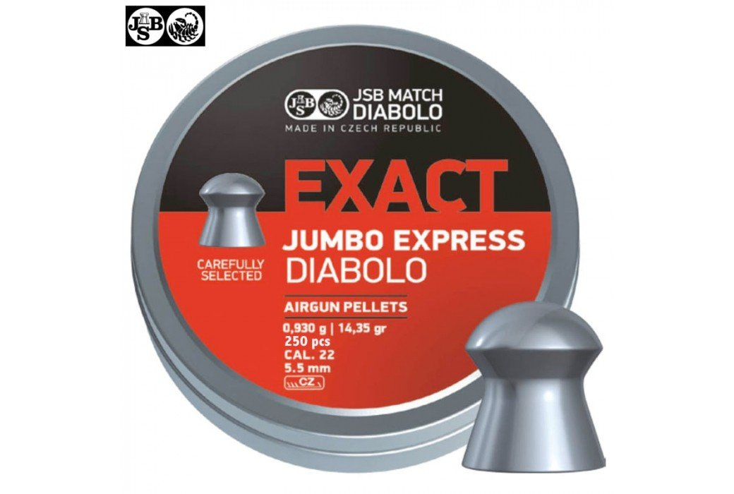 CHUMBO JSB EXACT EXPRESS ORIGINAL 250pcs 5.52mm (.22)