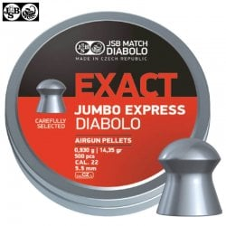 MUNITIONS JSB EXACT EXPRESS JUMBO ORIGINAL 500pcs 5.52mm (.22)