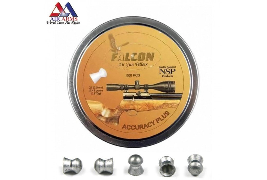 BALINES AIR ARMS FALCON ACCURACY PLUS 500pcs 5.52mm (.22)