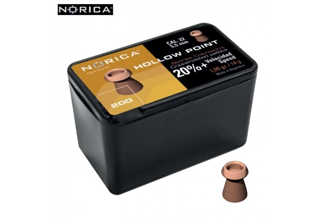 MUNITIONS NORICA HOLLOW POINT 5.50mm (.22) 200PCS