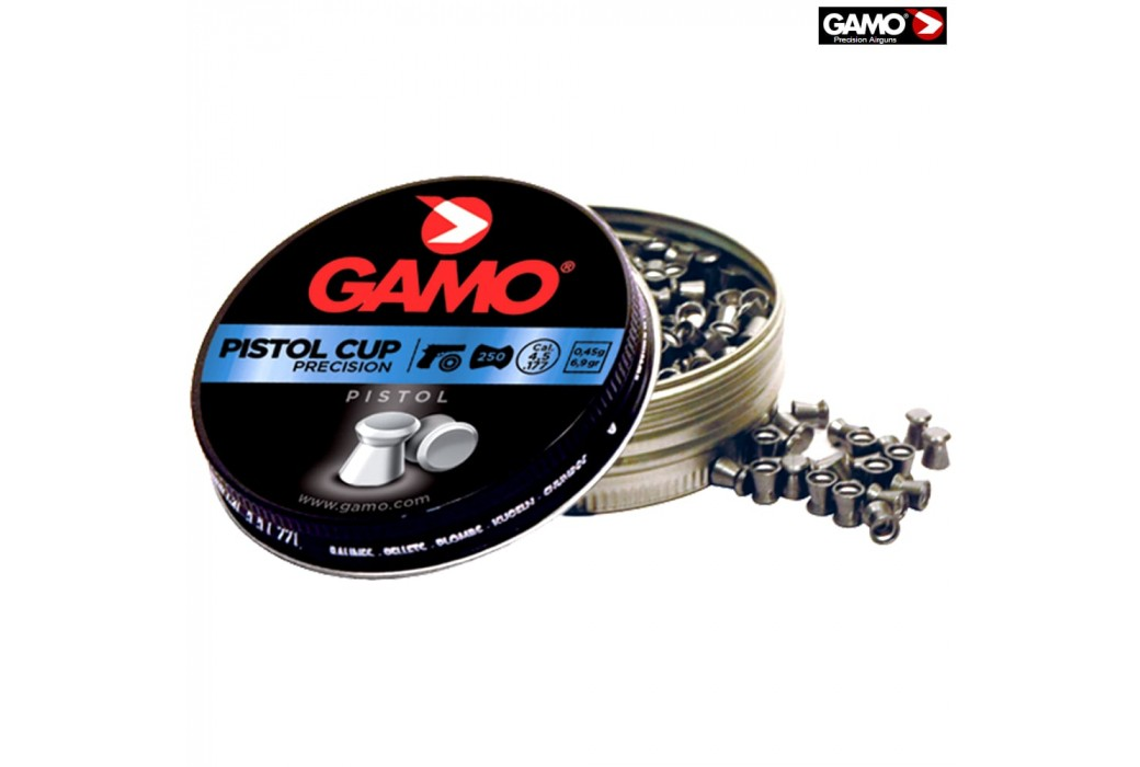 MUNITIONS GAMO PISTOL CUP 250pcs 4.50mm (.177)