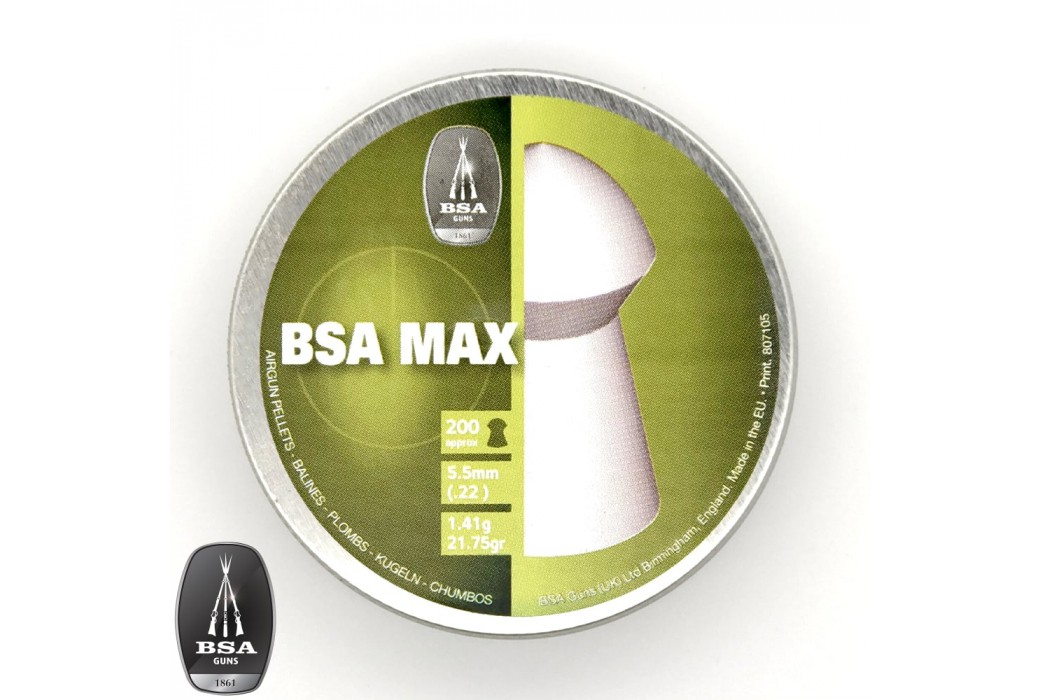 BALINES BSA MAX 200pcs 5.50mm (.22)