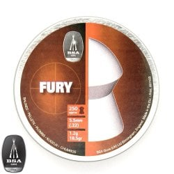 Air gun pellets BSA FURY 250pcs 5.50mm (.22)