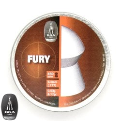 Air gun pellets BSA FURY 450pcs 4.50mm (.177)