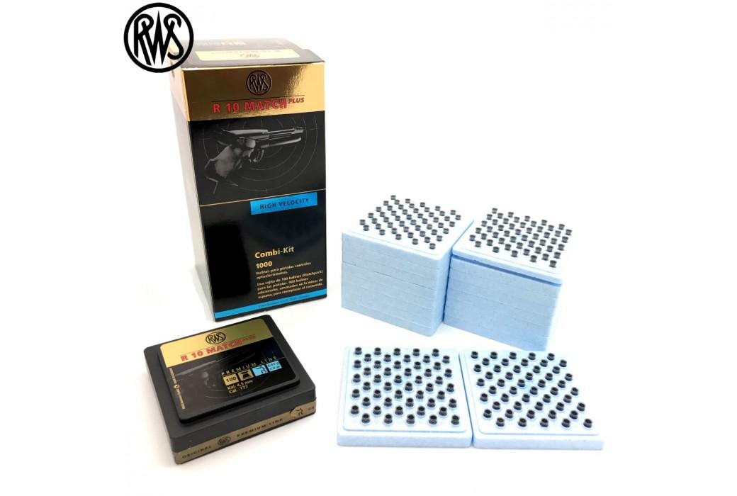 BALINES RWS R10 MATCH PLUS PISTOLA 4.50mm (.177) 1000PCS