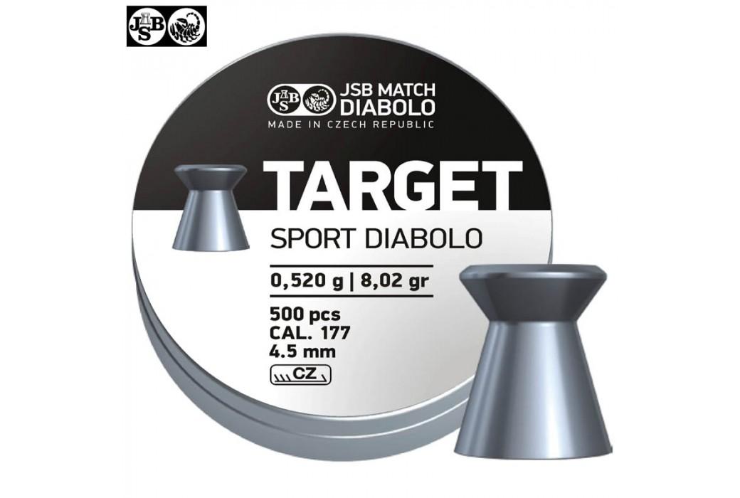 BALINES JSB TARGET SPORT DIABOLO 500pcs 4.50mm (.177)