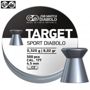 MUNITIONS JSB TARGET SPORT DIABOLO 500pcs 4.50mm (.177)