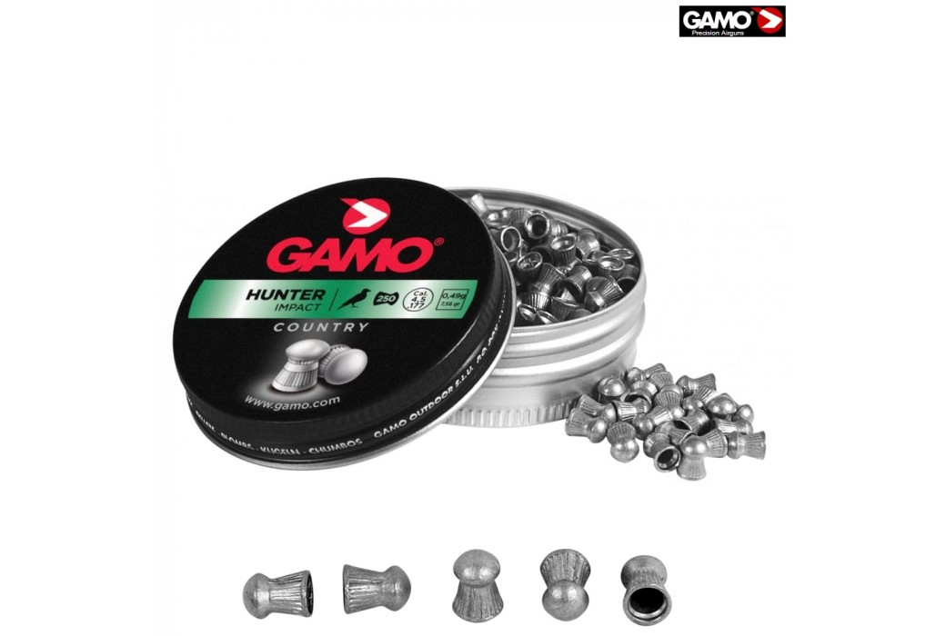 Air gun pellets Gamo Hunter 250 Pcs 4,5mm (.177)