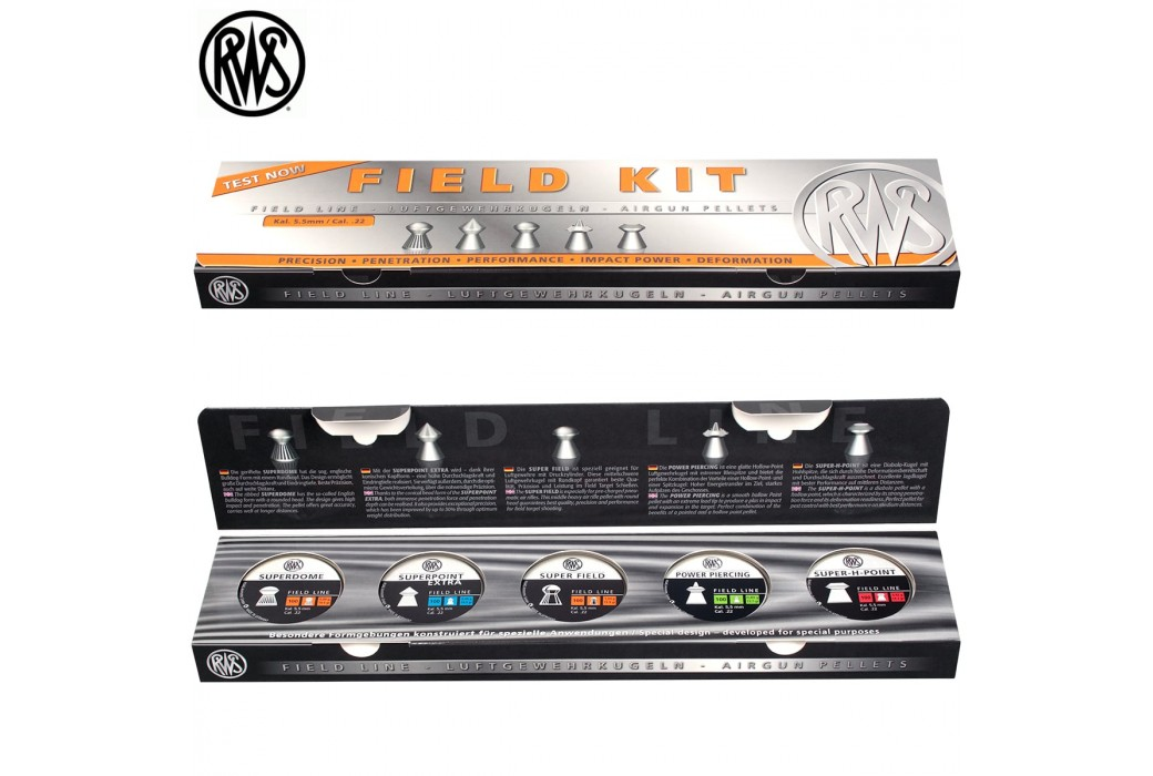 BALINES RWS FIELD KIT 5.50mm (.22) 500PCS