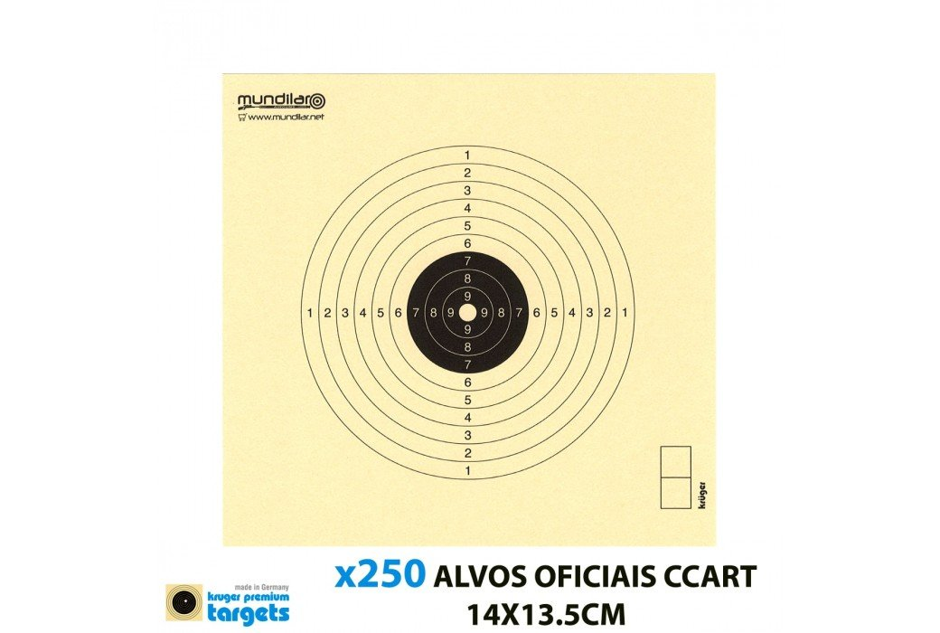 KRUGER AIR GUN COMP. TARGETS 10m RIFLE 14X13.5CM 250pcs