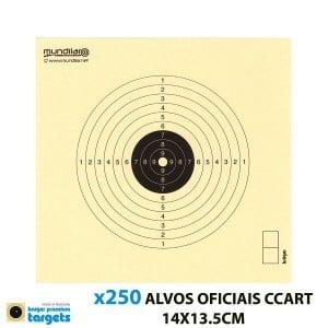 KRUGER ALVOS COMP. CARABINA CCART 10m 14X13.5CM 250pcs
