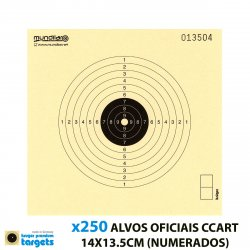 KRUGER AIR GUN COMP. TARGETS 10m RIFLE 14X13.5CM 250pcs (NUMBERED)