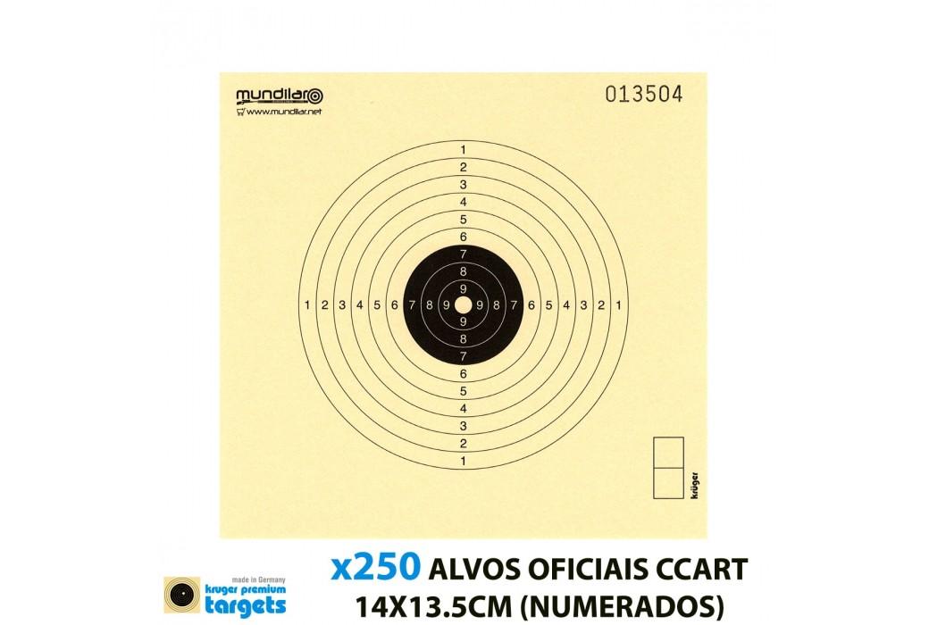 KRUGER ALVOS COMP. CARABINA CCART 10m 14X13.5CM 250pcs (NUMERADOS)