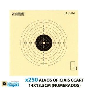 KRUGER CIBLES CARTON COMP. CARABINE 10m 14X13.5CM 250pcs (NUMÉROTÉE)