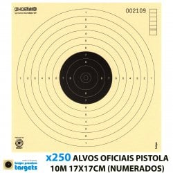 KRUGER AIR GUN COMP. TARGETS 10m PISTOL 17X17CM 250pcs (NUMBERED)