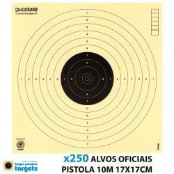 KRUGER AIR GUN COMP. TARGETS 10m PISTOL 17X17CM 250pcs