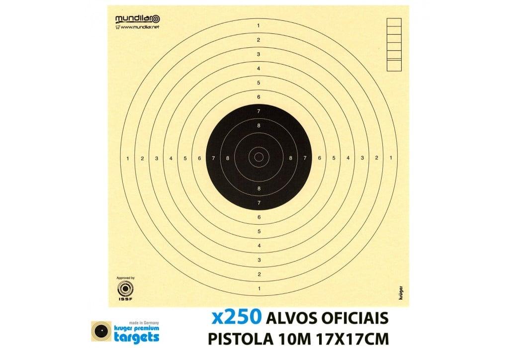 KRUGER ALVOS COMP. PISTOLA 10m 17X17CM 250pcs