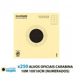 KRUGER CIBLES CARTON COMP. CARABINE PRÉCISION 10m 10X10CM 250pcs (NUMÉROTÉE)