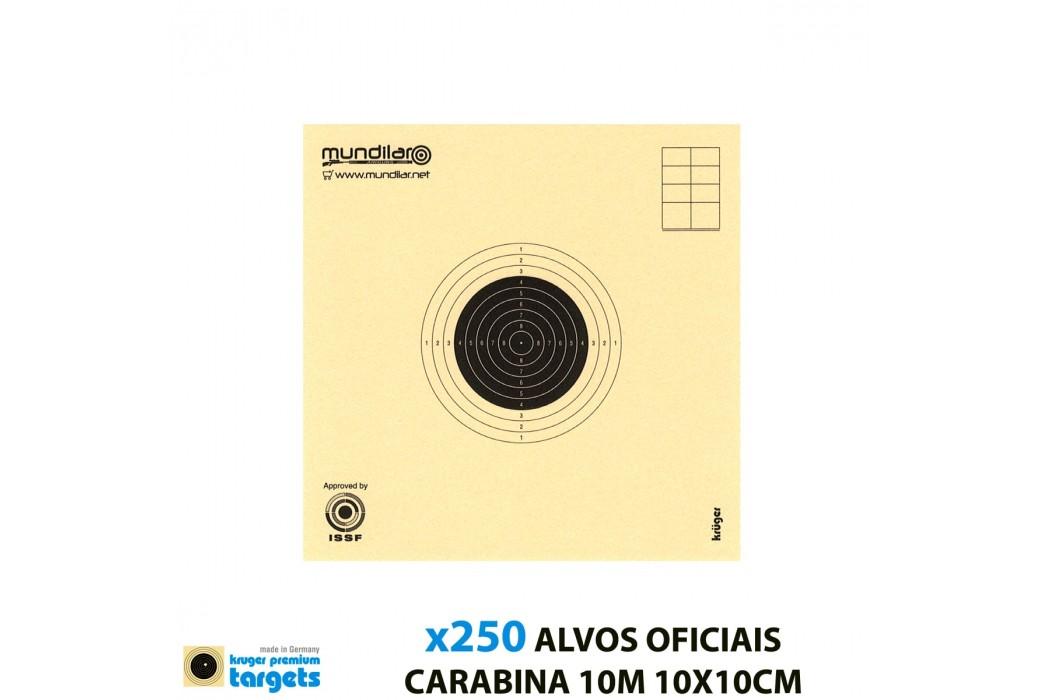 KRUGER ALVOS COMP. CARABINA PRECISÃO 10m 10X10CM 250pcs