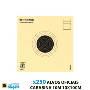 KRUGER BLANCOS COMP. CARABINA PRECISION 10m 10X10CM 250pcs