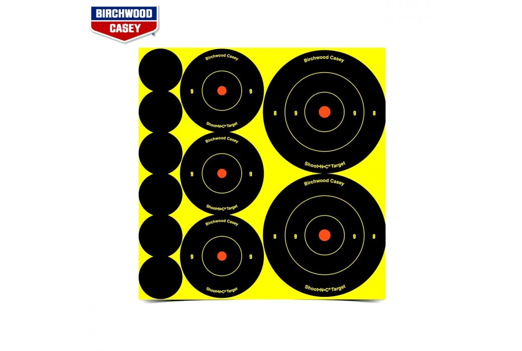 BIRCHWOOD CASEY SHOOT-N-C TARGETS 132PCS 34608