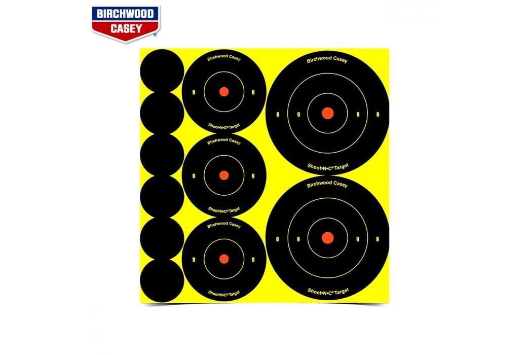 BIRCHWOOD CASEY SHOOT-N-C TARGETS 132PCS 34608