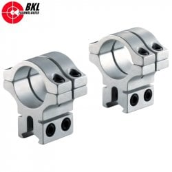 BKL 301 TWO-PIECE MOUNT 30mm 9-11mm SILVER