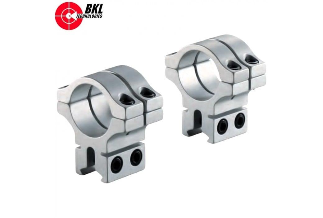 BKL 301 MONTURAS 2PCS 30mm 9-11mm SILVER