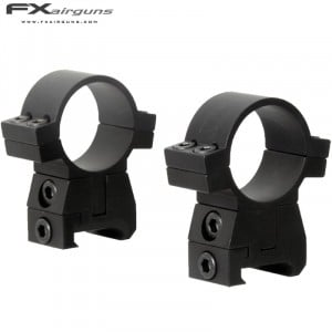 FX MONTURAS NO LIMIT 2PC 30mm WEAVER PICATINNY ALTURA AJUSTABLE