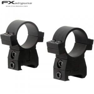 FX NO LIMIT MONTAGE 2PC 30mm WEAVER PICATINNY HAUTEUR RÉGLABLE
