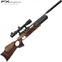 PCP AIR RIFLE FX ROYALE 400 REGULATED WALNUT CARBON FIBER CYLINDER