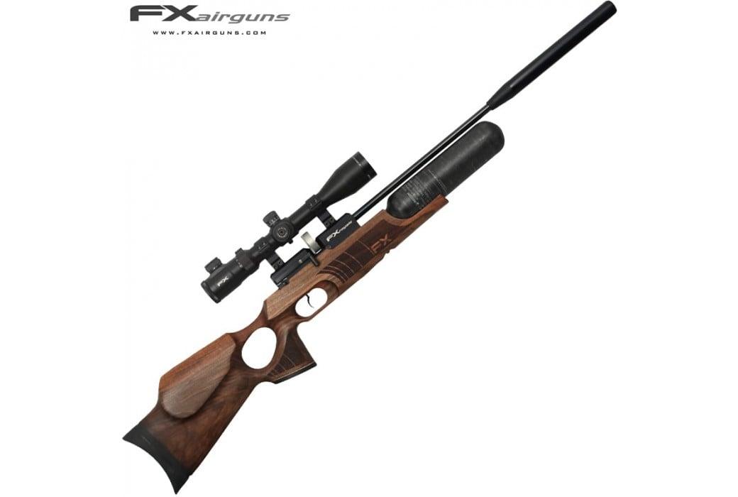 pcp air rifle fx royale 400 regulated walnut carbon fiber cylinder