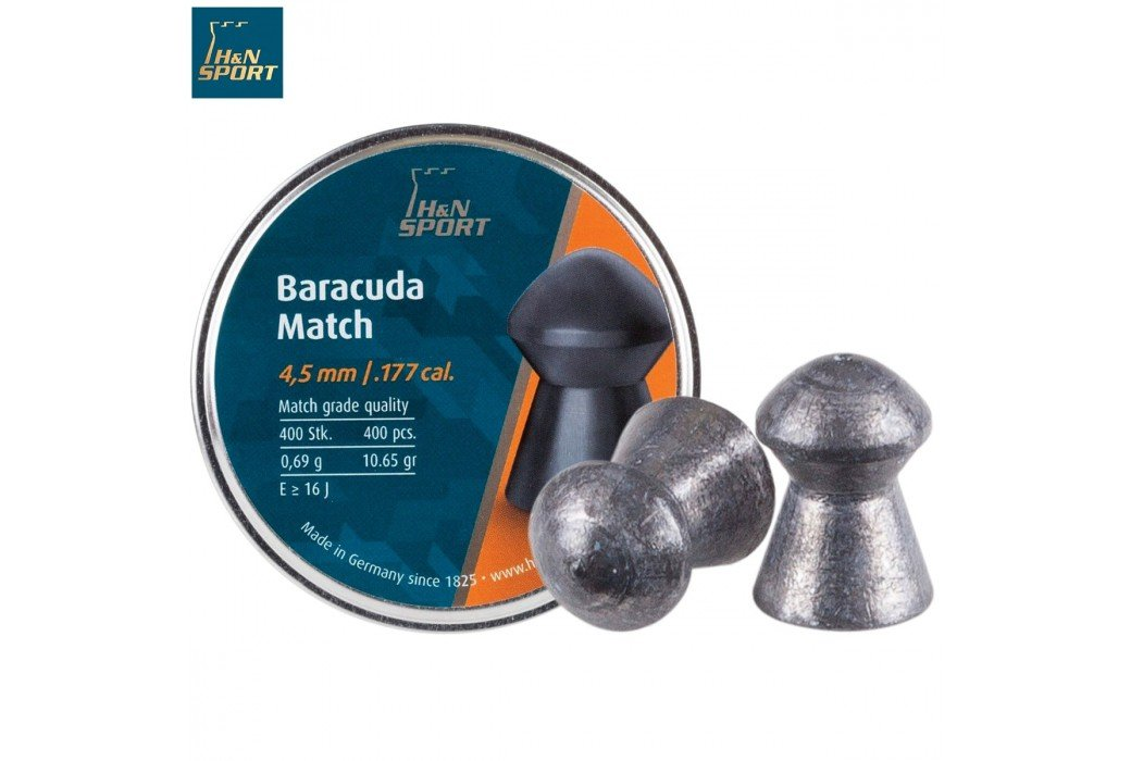 BALINES H & N BARACUDA MATCH 4.50mm (.177) 400PCS