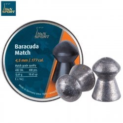 Air gun pellets H & N BARACUDA MATCH 4.51mm (.177) 400PCS