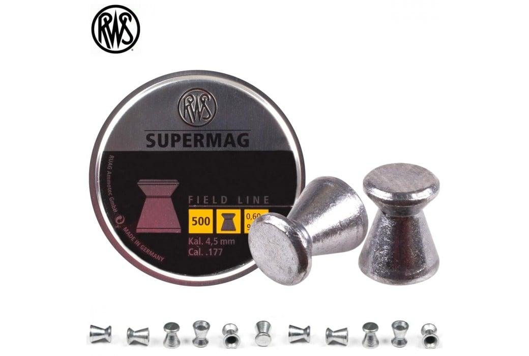 BALINES RWS SUPERMAG 4.50mm (.177) 500PCS