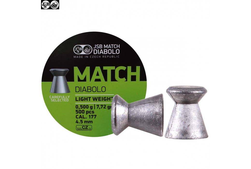 MUNITIONS JSB MATCH DIABOLO 500pcs 4.49mm (.177) LIGHT WEIGHT