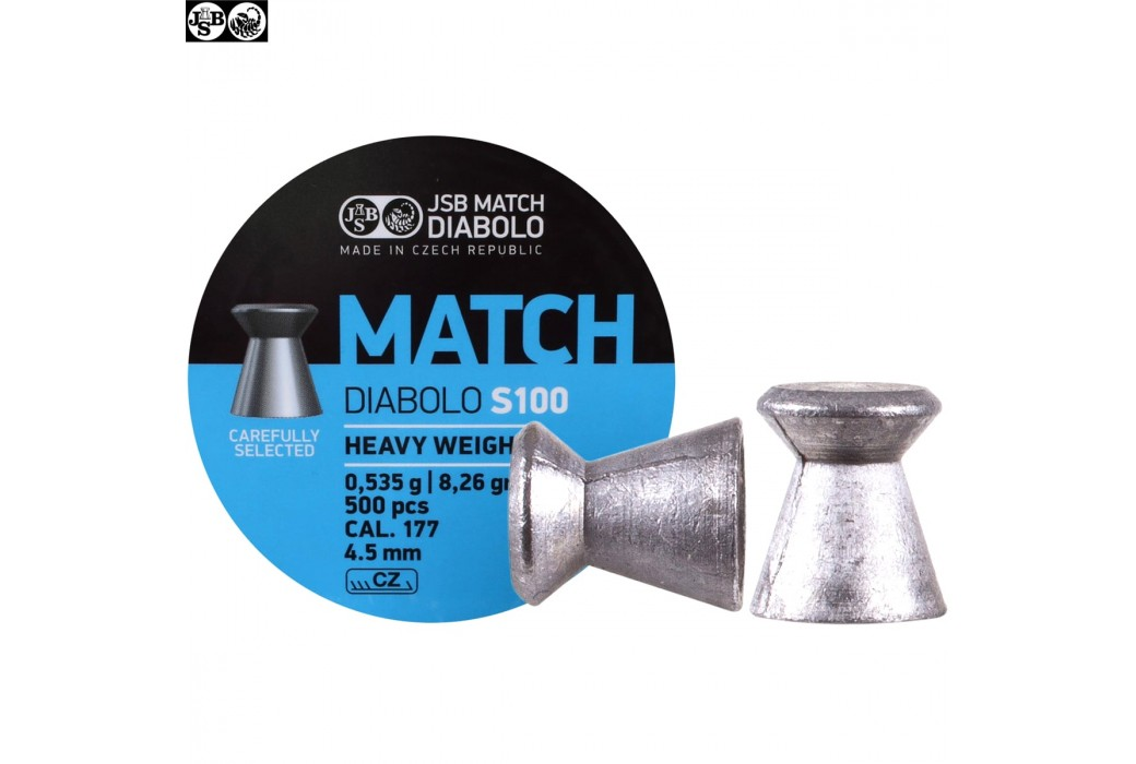 BALINES JSB MATCH DIABOLO S100 500pcs 4.50mm (.177) HEAVY WEIGHT