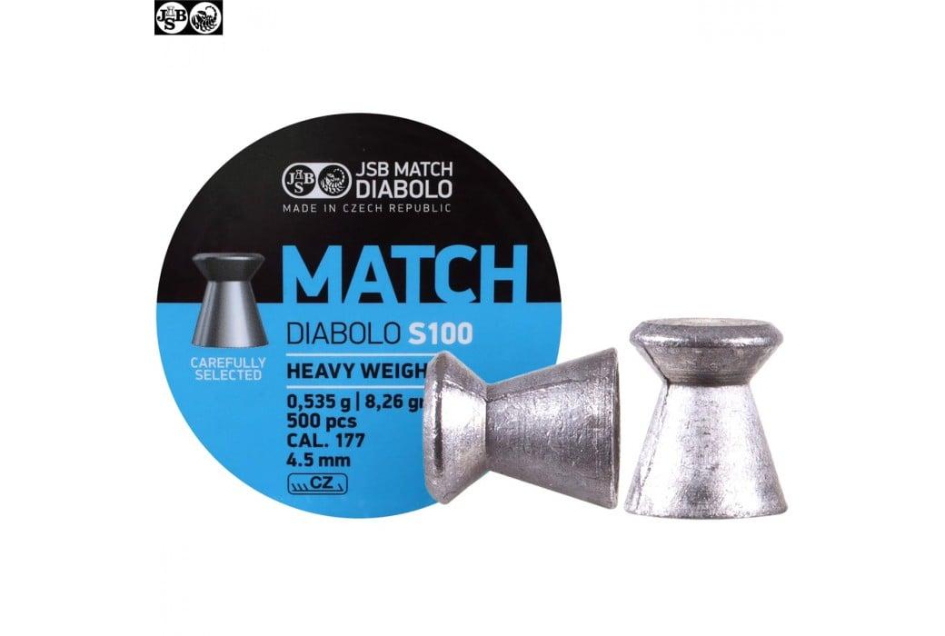 CHUMBO JSB MATCH DIABOLO S100 500pcs 4.50mm (.177) HEAVY WEIGHT